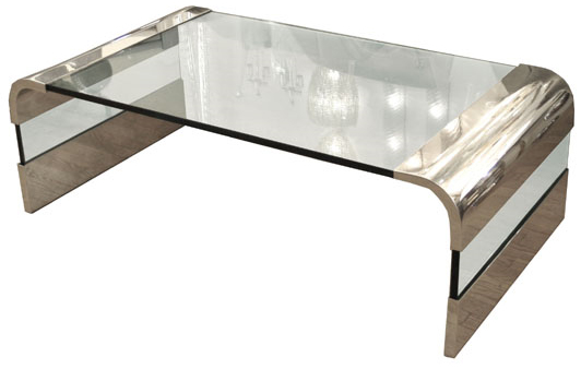pace chrome glass table