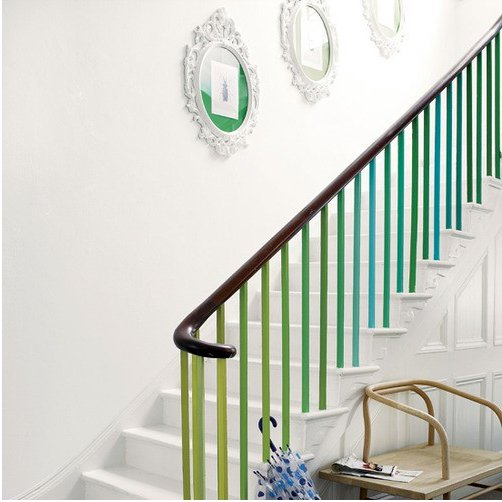 painted balusters