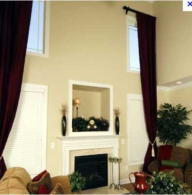Curtains Ideas curtains for double windows : Double Height Curtains — ERIN WILLIAMSON