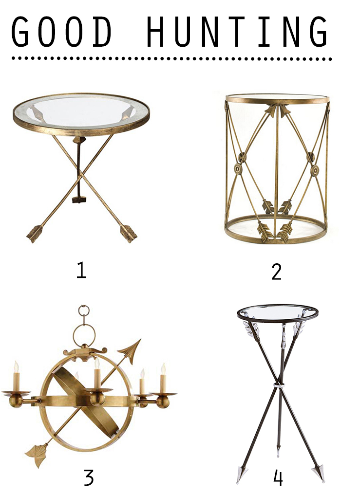 brass arrow table