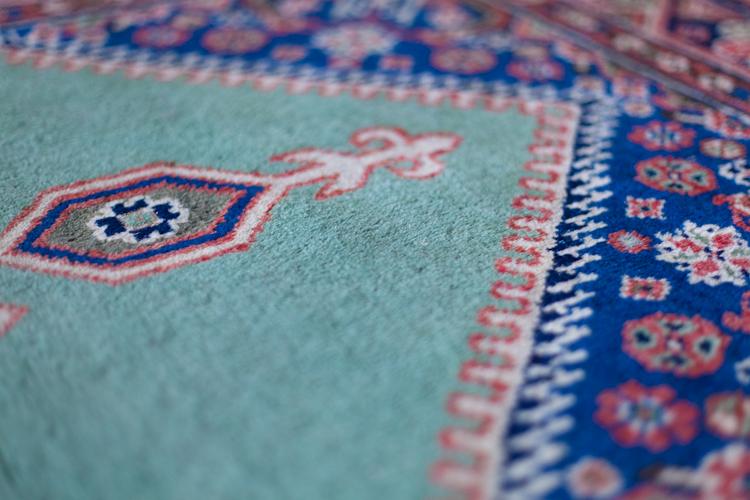 kurdish rug green
