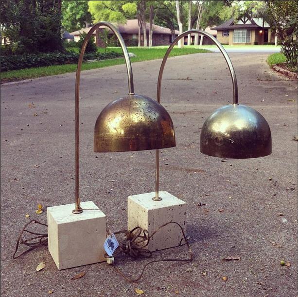 vintage arc lamps