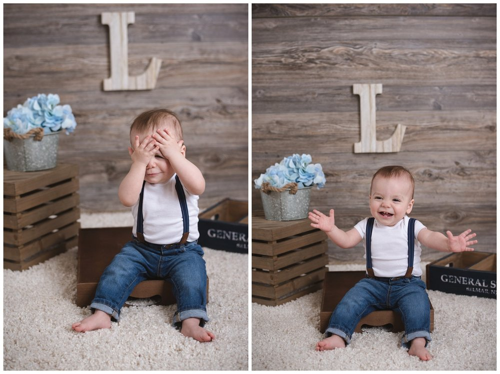 Cake Smash Boy Gianna's Photography Family Baby Portrait Photographer