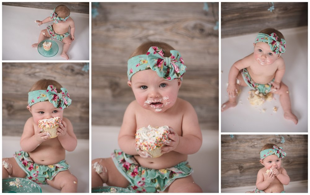 baby studio cake smash gianna's photography medina mn