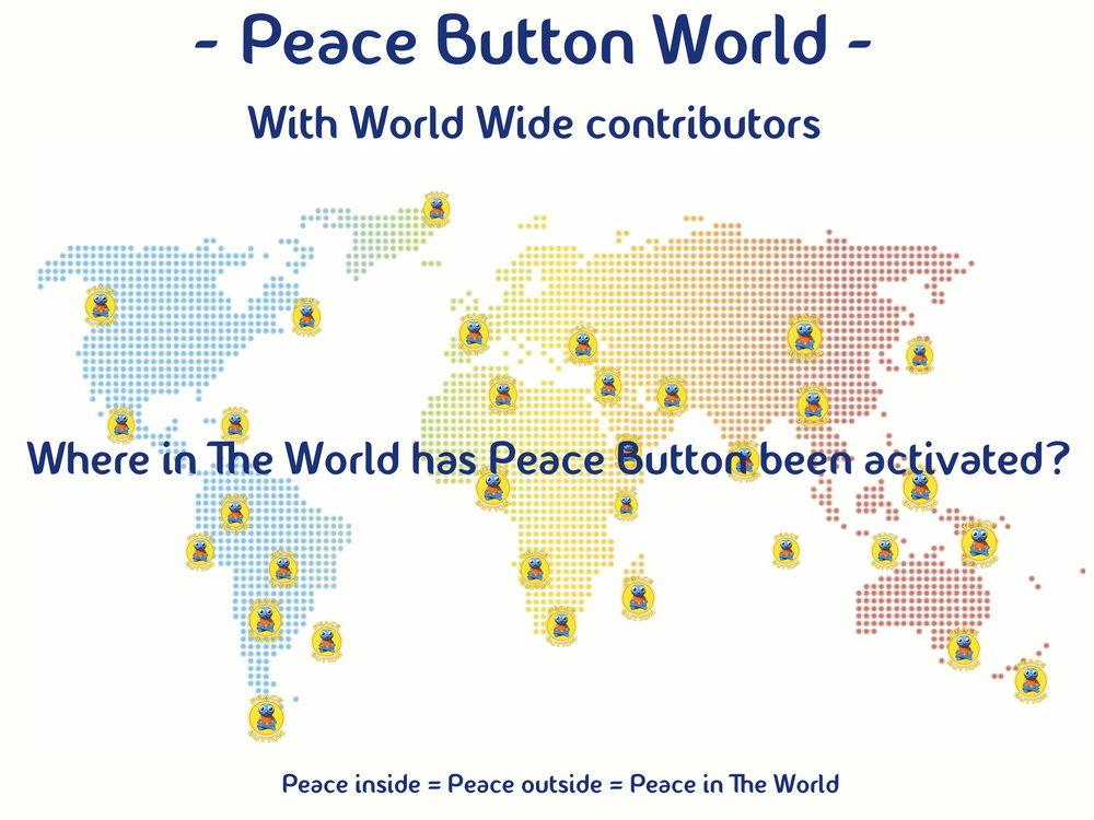 Imagine Peace Button spreading world wide...