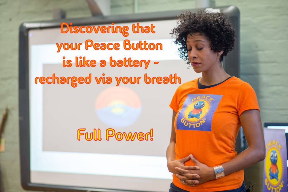Your Peace Button is like a battery...
