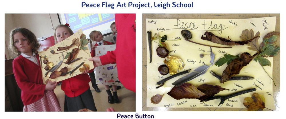 Peace Flag Art Project, Leigh School
