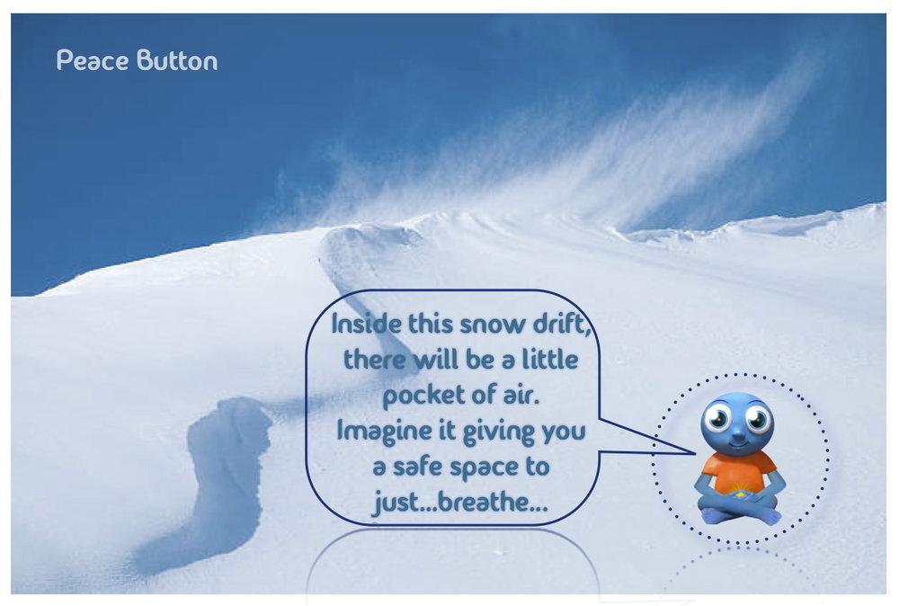 Inside a snowdrift...