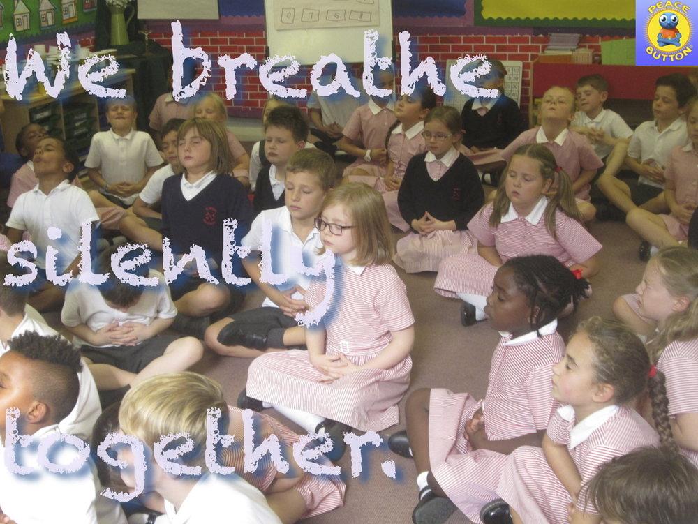 We breathe silently together...
