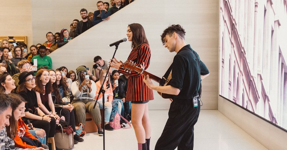 Live Music Performance at an Apple Store