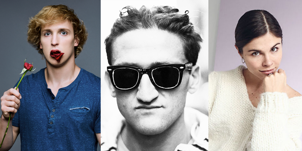 From Left to Right: Logan Paul, Casey Neistat, and Emily Weiss