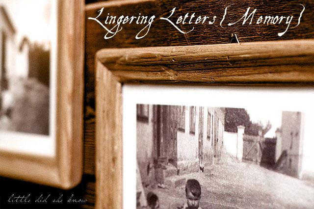 lingering letters memory