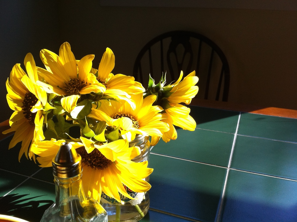 Sunflowers on the Kitchen Table