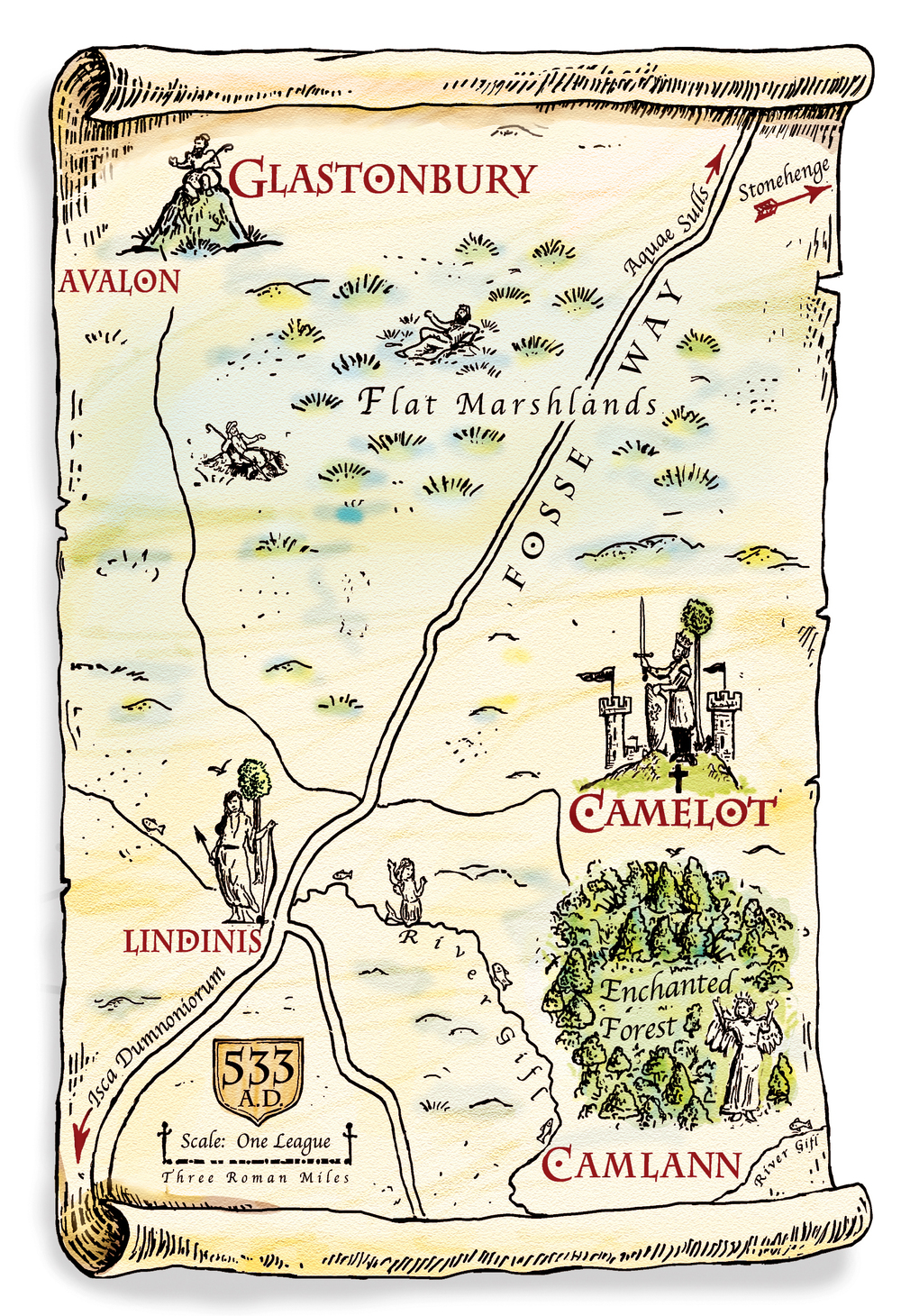 Location Map of Camelot