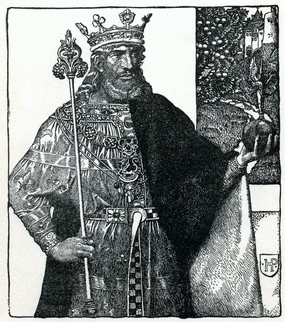 King Arthur by Howard Pyle from The Story of King Arthur and his Knights, 1903