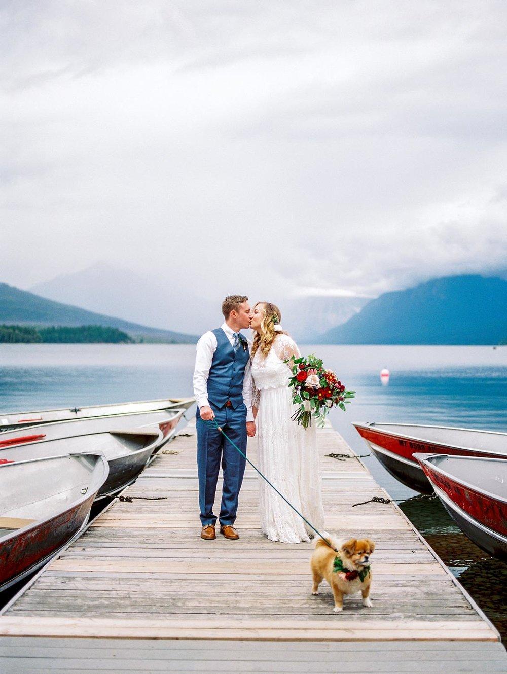 Destination  wedding planning at Glacier National Park