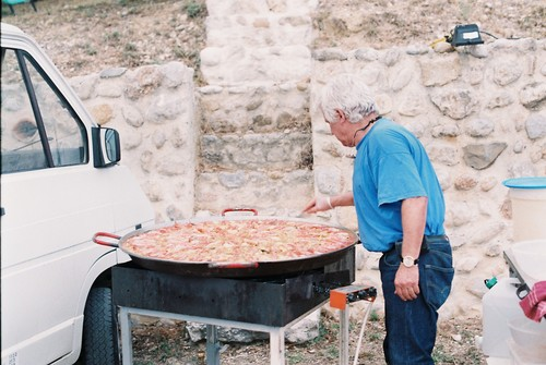 "José. In the village, the retired stone mason from Málaga is known simply as ""José Paella."""