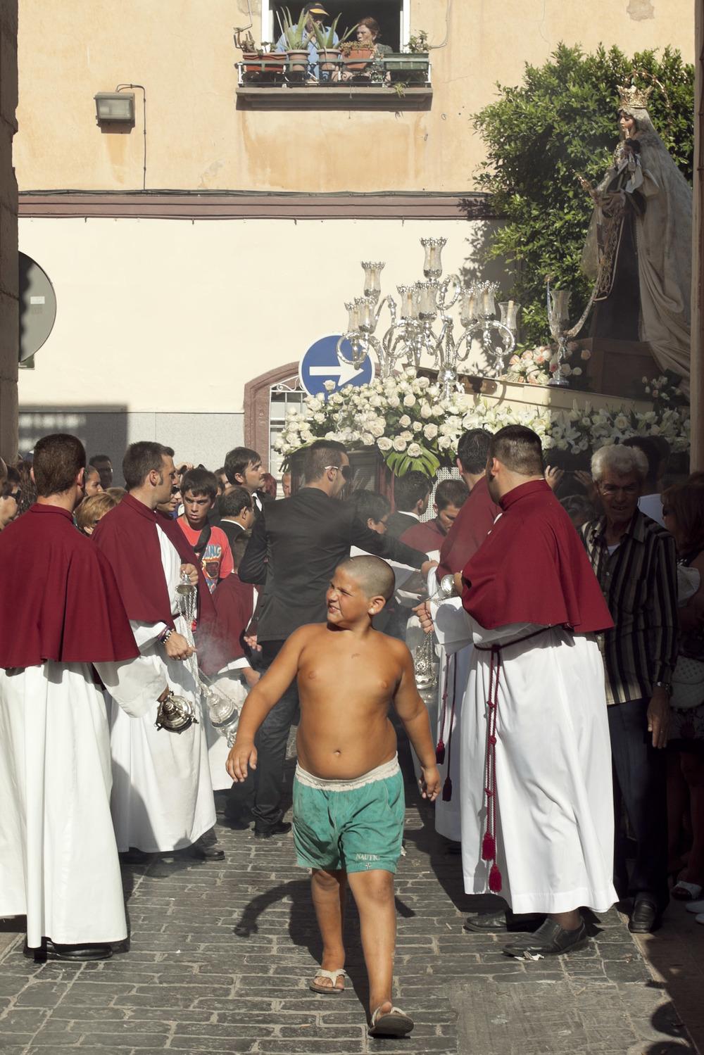 Procesión de la Virgen del Carmen. Almería, España.