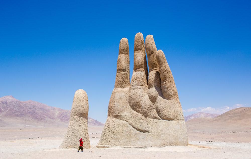La mano del desierto. Chile