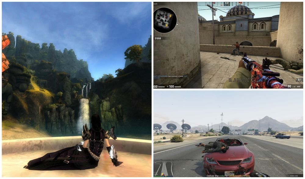 Guild Wars 2, Counter-Strike: Global Offensive și Grand Theft Auto V