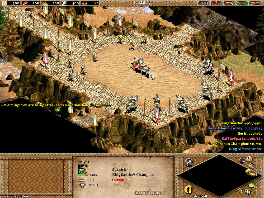 Captură din campania El Cid din Age of Empires II: The Age of Kings