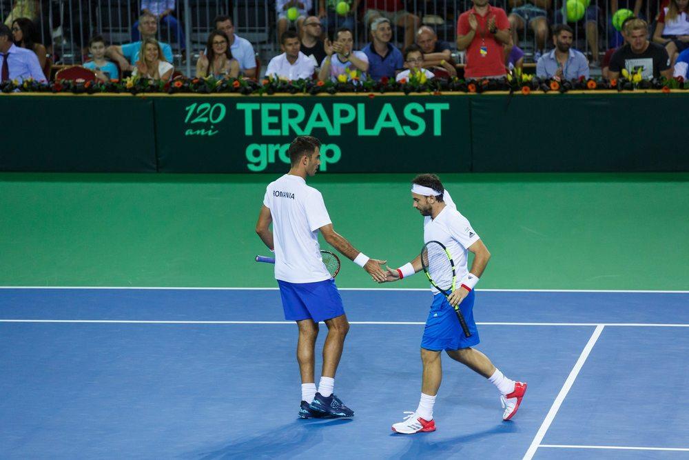 Mergea și Tecău au adus singurul punct României în partida cu Spania / Foto: Facebook, Federația Română de Tenis