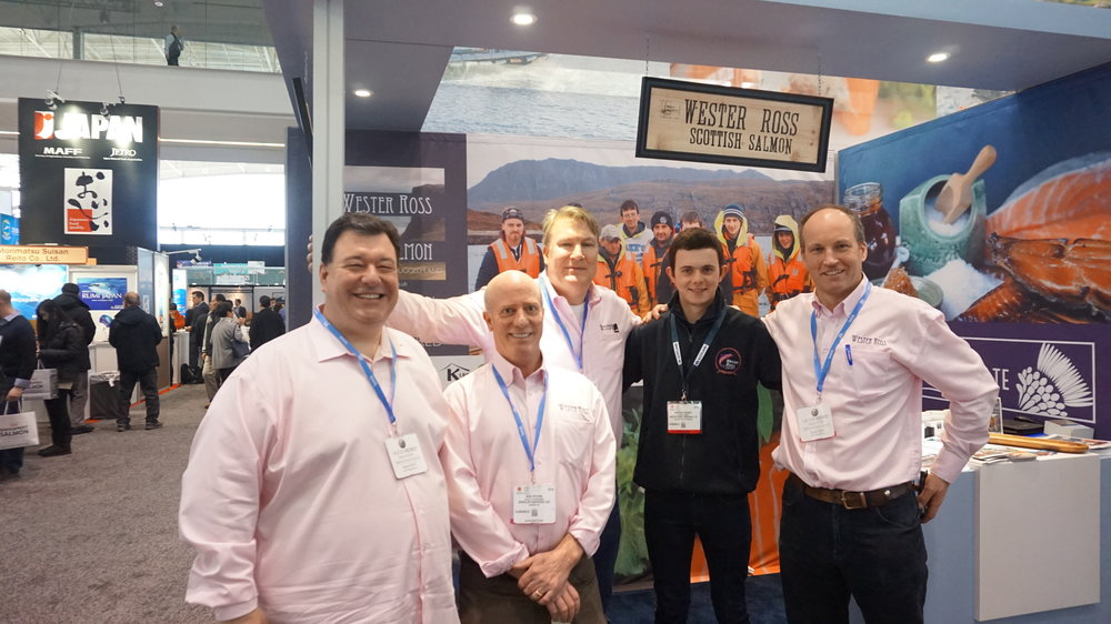 Wheeler Seafood team with Andrew and Gilpin from Wester Ross, SENA 2016, Boston, MA