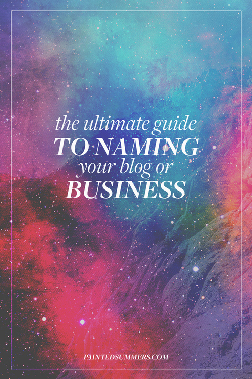 The Ultimate Guide To Naming Your Blog Or Business Free Worksheet