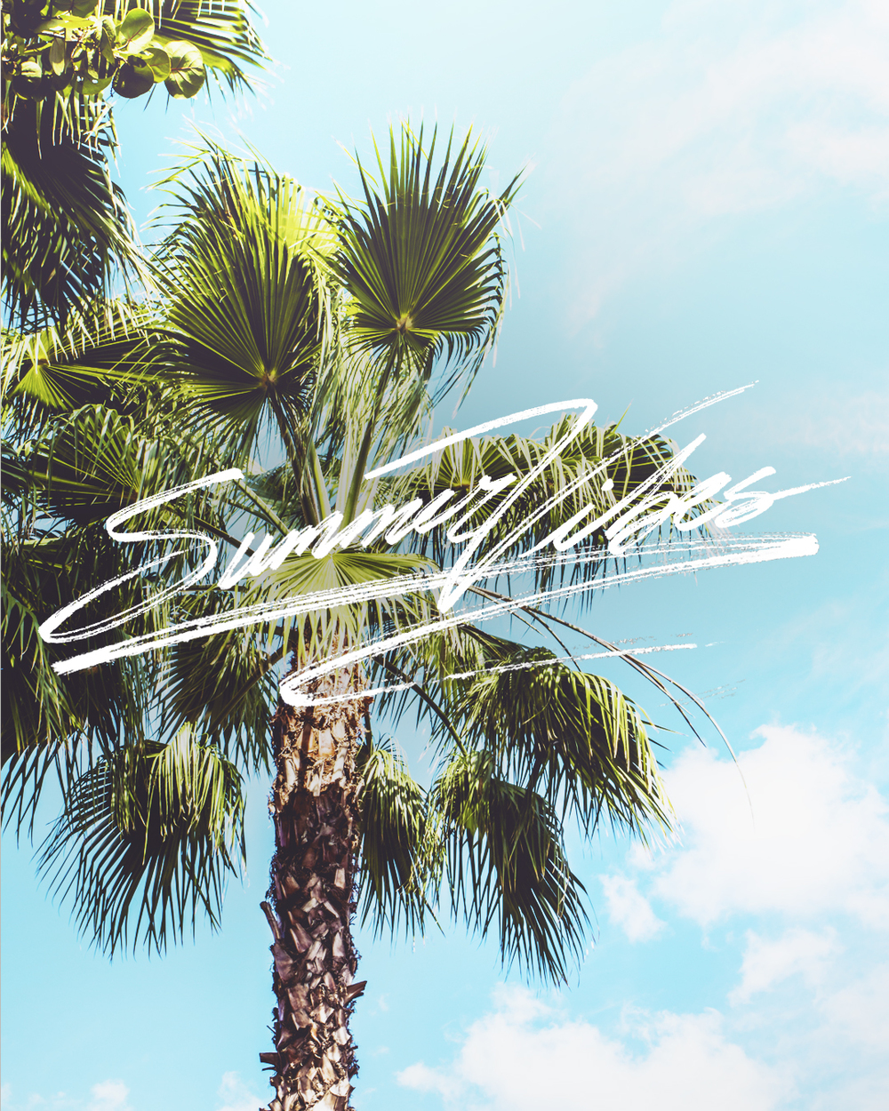 Summer Vibes   Personal lettering project.  (Find the original post here).