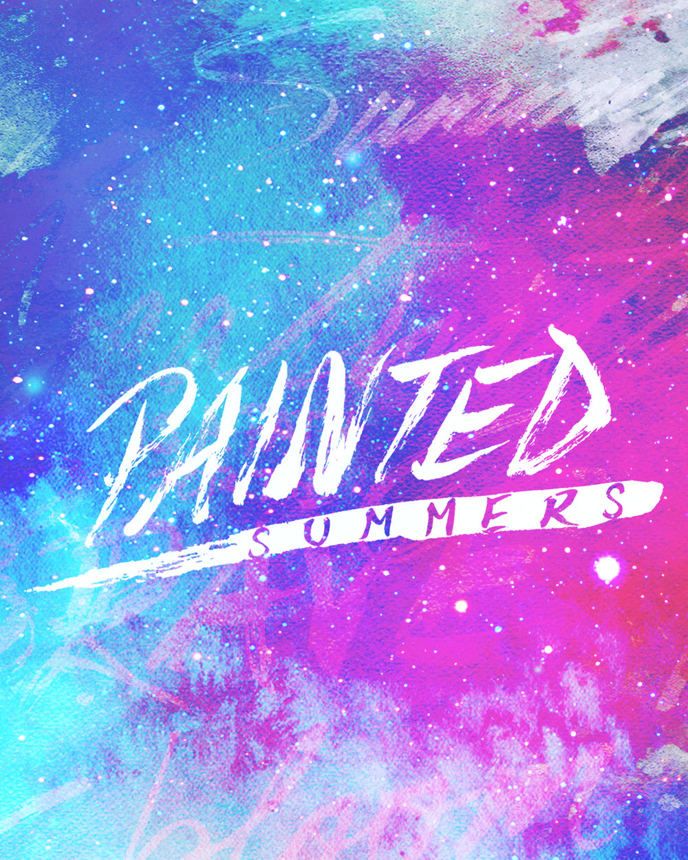Painted Summers   Custom hand-lettered logo for my personal brand.