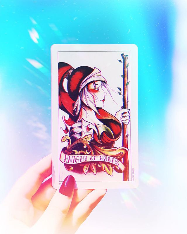 The Knight of Wands⁣⁣ ⁣ This card calls for taking action. The fiery knight has an expression of enthusiastic determination on her face, her body straight and tall, confident in her abilities.⁣⁣ ⁣ She encourages you to pursue your creative ideas with a spark of passionate energy and to not let fear, overwhelm, or self-doubt hold you back. Start with small steps. Even tiny, consistent actions make a huge difference over time, and soon your momentum will grow.⁣⁣ ⁣ Make it happen today.⁣⁣ ⁣⁣ - - -⁣⁣ ⁣⁣ So the backstory here, I first started getting involved with tarot & oracle cards about 4 months ago, and in that short timeframe I've gone from total skeptic to completely hooked. They've become such a useful (not to mention beautiful) tool to help me tap into my intuition and reflect on life.⁣ ⁣ A bit woo woo? Maybe. Does that matter to me? Noooope. 'Cause I'm having too. much. fun.⁣⁣ ⁣ This post is an experimental one for a couple reasons: ⁣ 1) I've been wanting to journal about my tarot readings for more intentional practice, so I thought I'd see what that might look like on here, ⁣ and 2) I want to make a slight shift with how my feed looks to better match my style as a designer, and this is helping me gradually transition into that new look. I'm so OVER overthinking it. All it does is hold me back from posting anything at all. *whomp whomp*⁣. ⁣ I mentioned earlier how tarot is a great tool for reflecting, but it's important to remember that reflection is only part of the picture. Today's card made that obvious. It's a theme that's been popping a lot for me this month, so I'm making a conscious effort to answer those signs both now and moving forward throughout the rest of September. ⁣ What little actions will you commit to taking this week? ✨ (Also, who else is into tarot/oracle cards? I'm already itchin' to collect more decks 😬🤷🏻‍♀️)