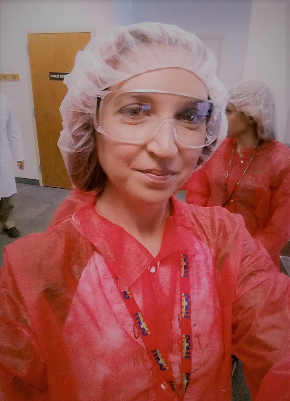 Rockin the goggles and hairnet at the NOW Foods plant!