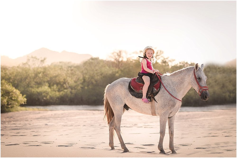 The highlight of our trip – Maddie and her buddy went horseback riding at sunset.