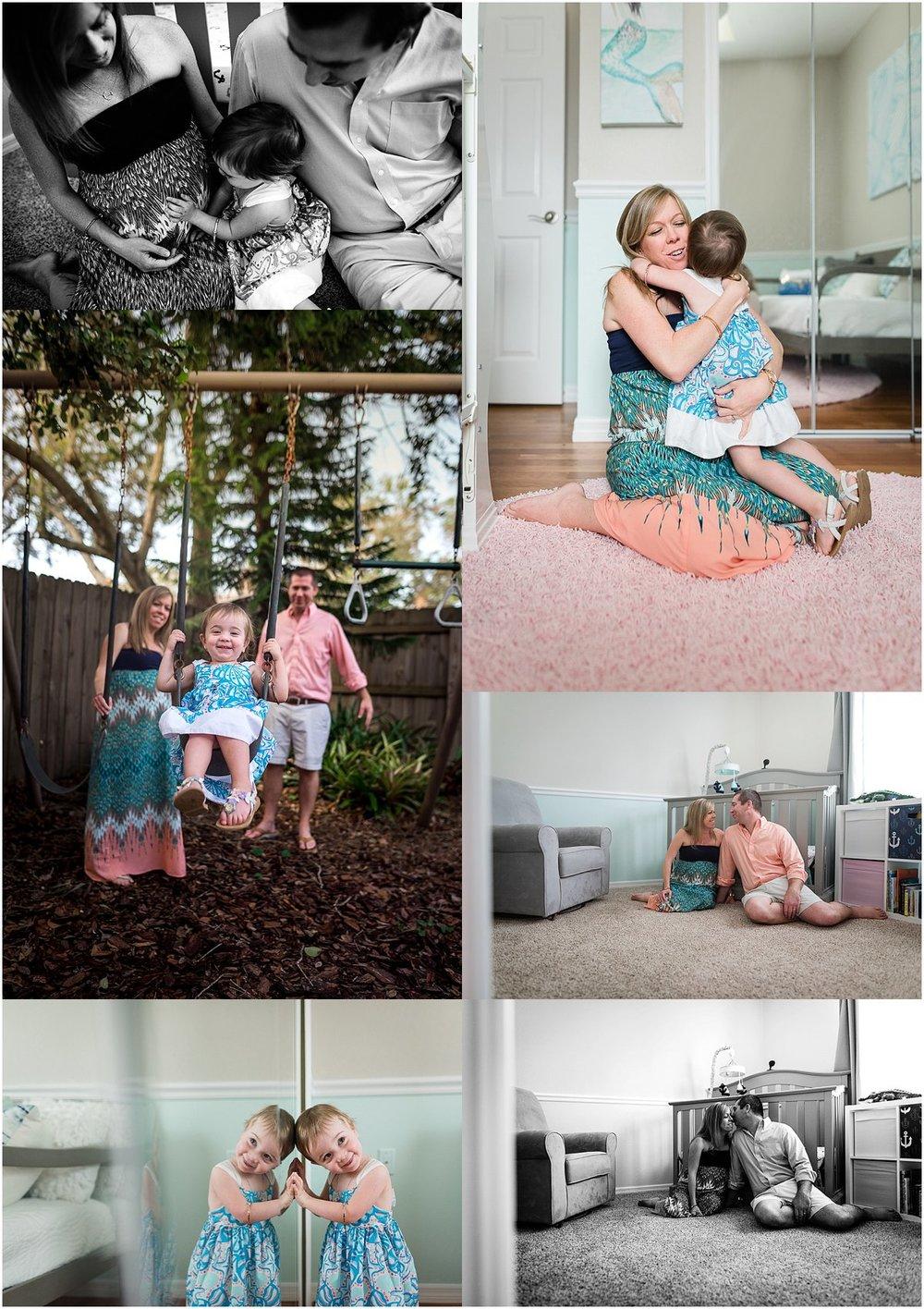 Orlando family photographer | Maternity in-home photo shoot