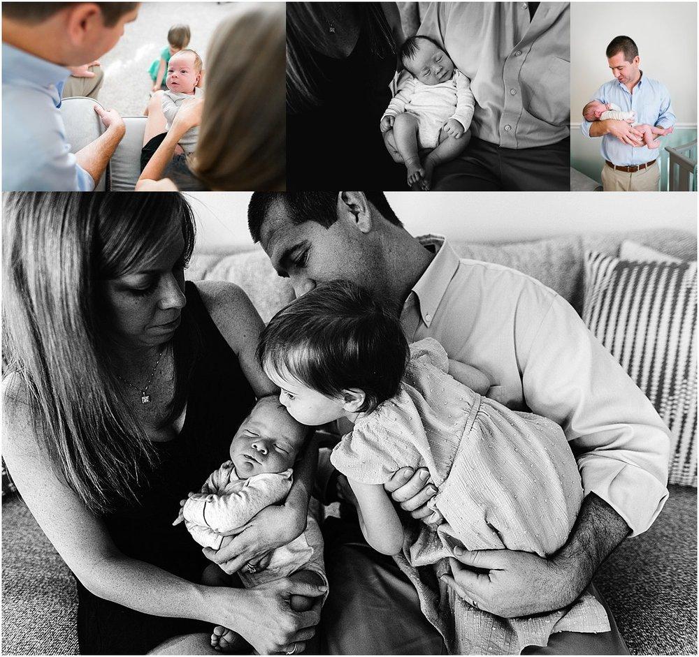 Family welcoming a newborn baby boy | Orlando newborn photography