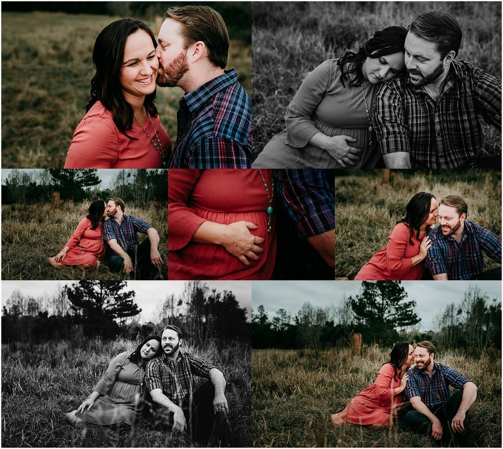 Couples photography session - pregnant mother with hands on her belly | Orlando Newborn and Maternity Photographer