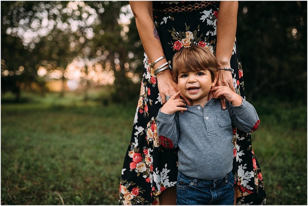 Toddler and his mom during family photographs | Orlando Lifestyle Photographer