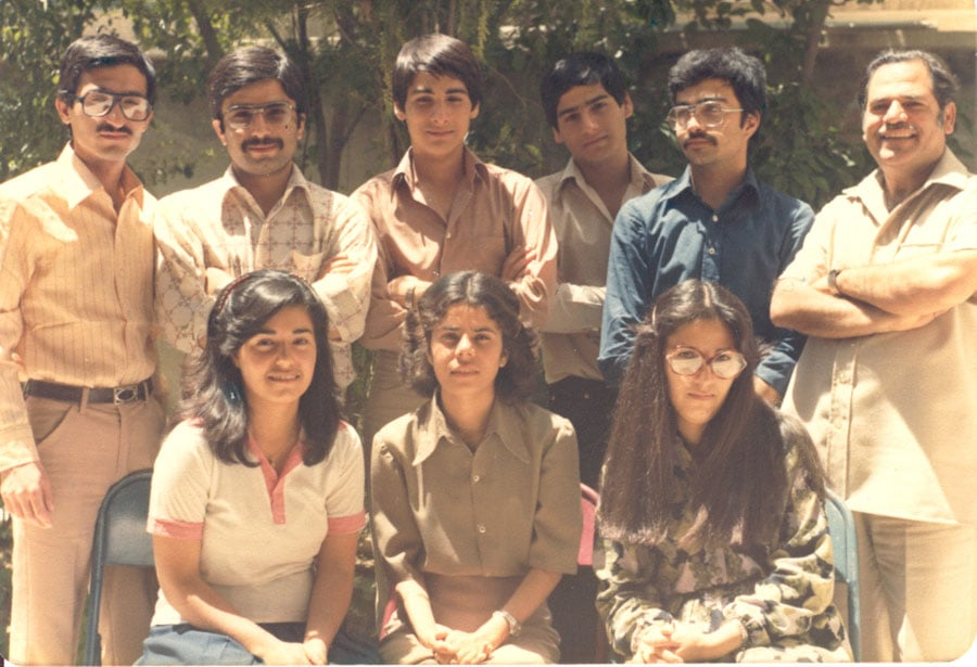 One of Mr. Mahmudnizhad's many Baha'i classes, circa 1980/81.