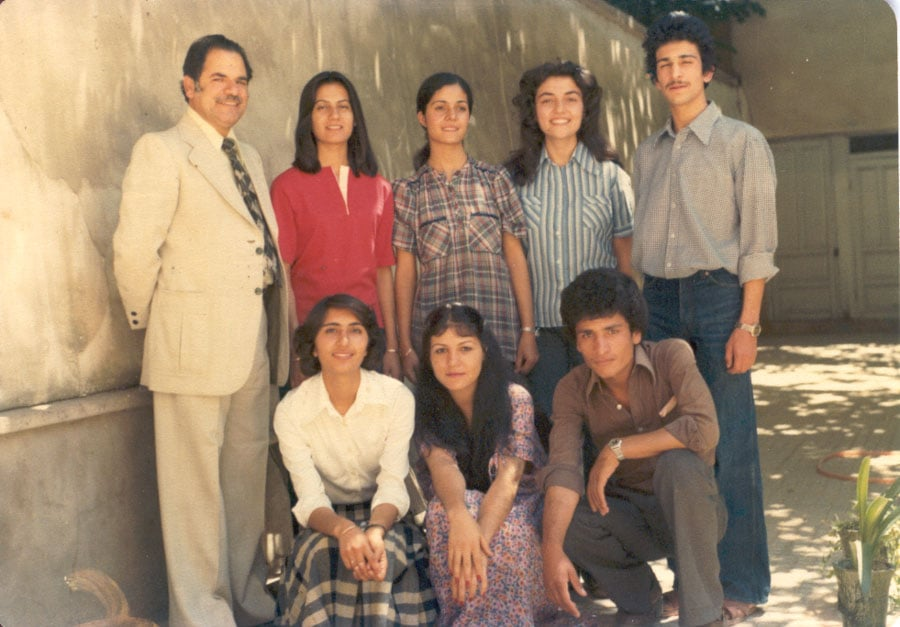 Another of Mr. Mahmudnizhad's many Baha'i classes, circa 1980/81.