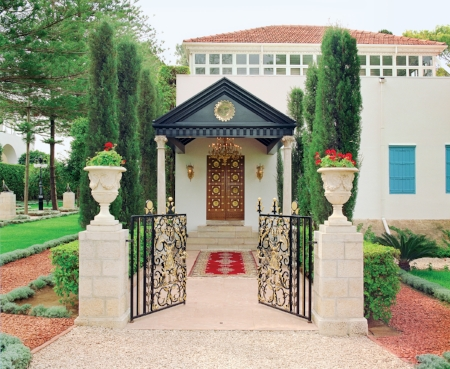 The Shrine of Bahá'u'lláh in Bahji, as it is today