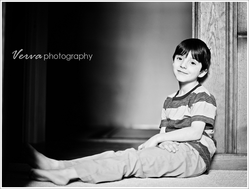 children's portrait photographer, natural light, b&w