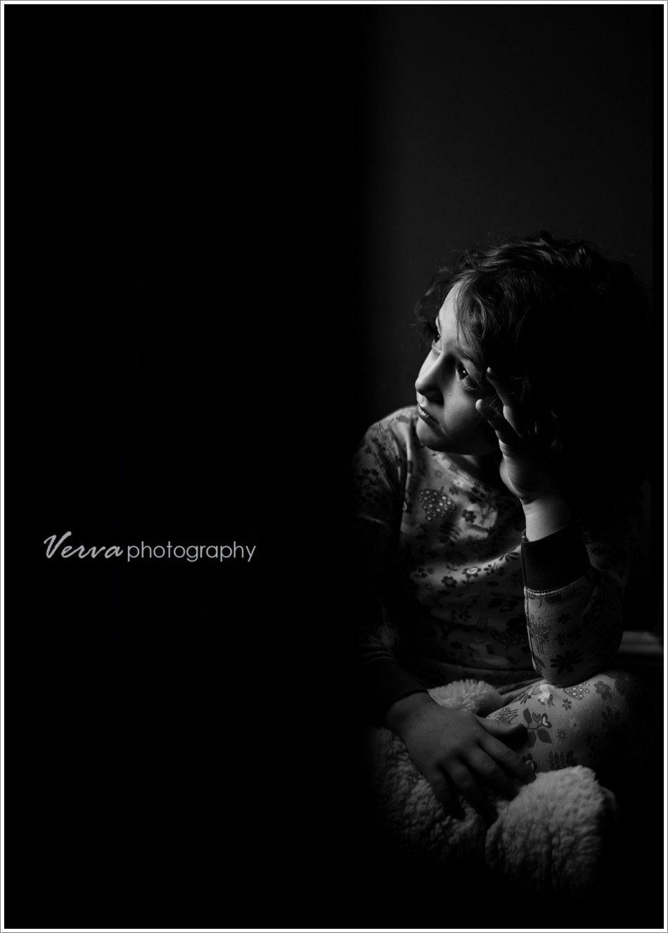 nyc area children's portrait photography, b&w