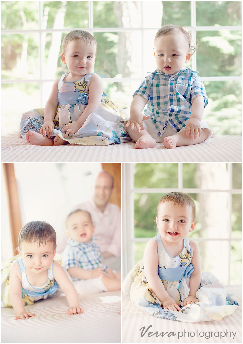 1-year-old twins portraits, nyc area