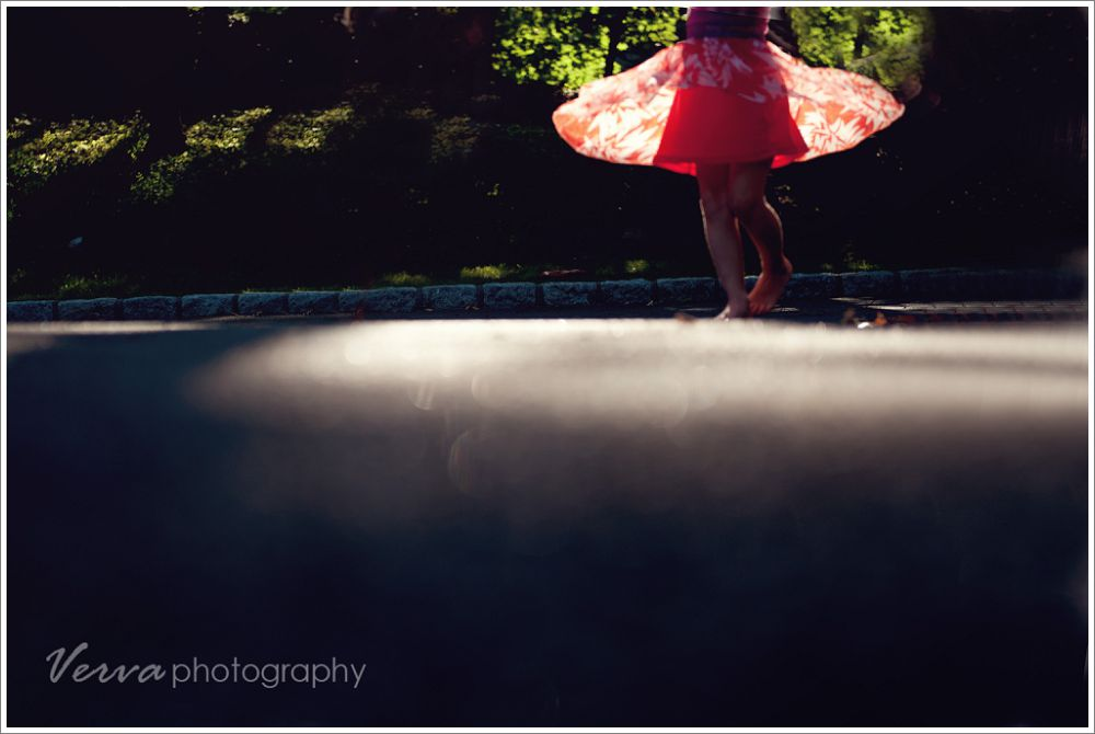 verva photography, dancing girl portrait, golden hour