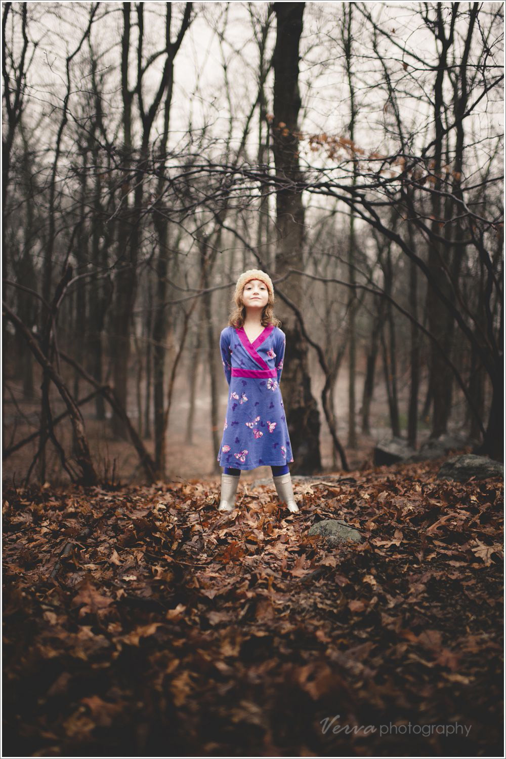 children's portraits in winter
