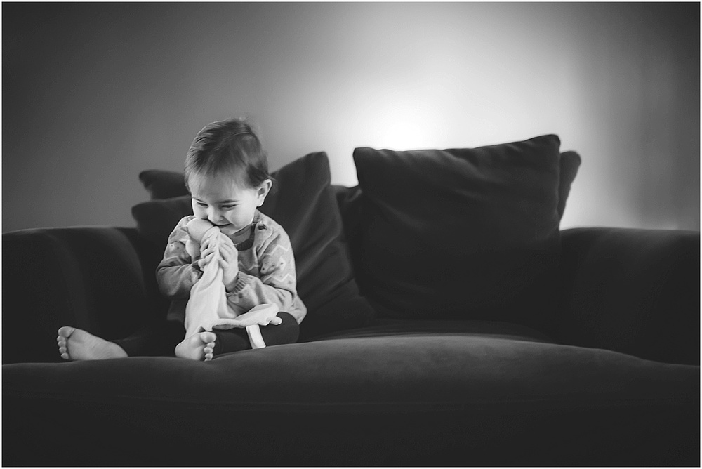 black and white toddler portrait