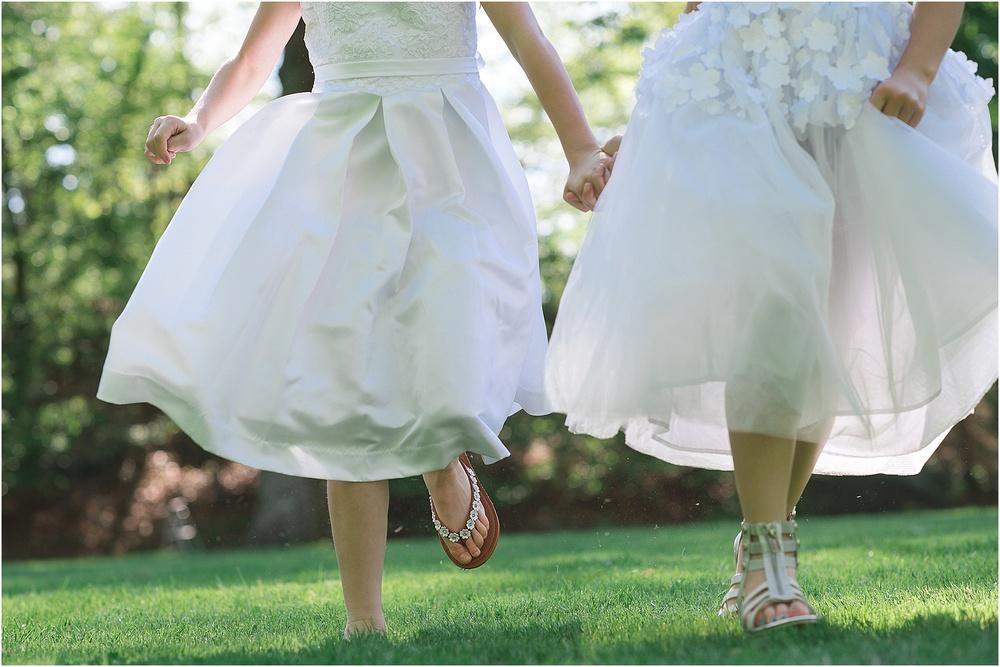 friends. first communion dresses
