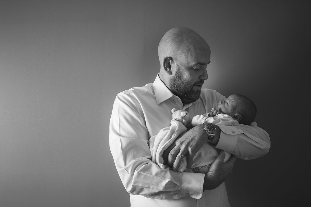 father and newborn. family portraits
