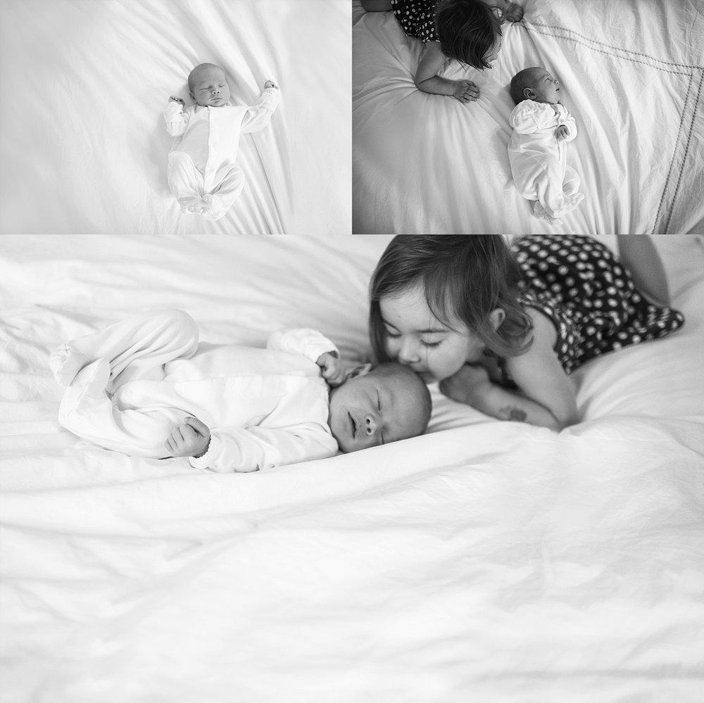 big sister and newborn
