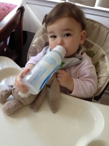 Ella's famous one-handed bottle trick